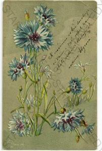 Modré květiny  plastická karta DA