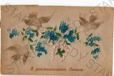 Přání holubice květiny plastická karta