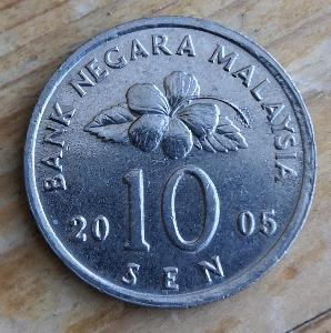 Malaysie 10 sen 2005