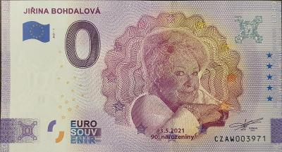 0 euro  - Jiřina Bohdalová