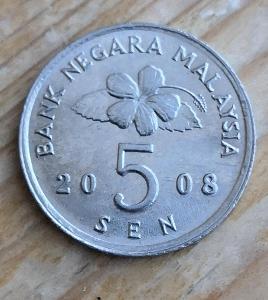 Malaysie 5 sen 2008