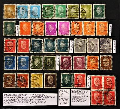 Deutsches Reich/prezidenti/1928-32/Mi:410-466/raz./popis viz. foto).