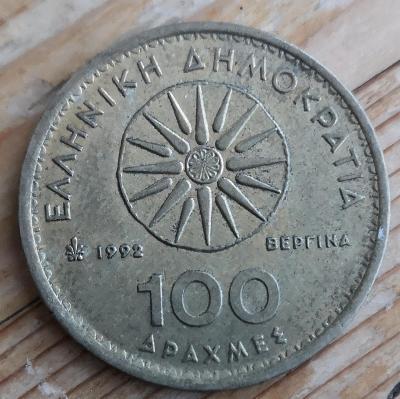 Řecko 100 drachma 1992