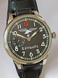 LUFTWAFFE veliké náramkové hodinky