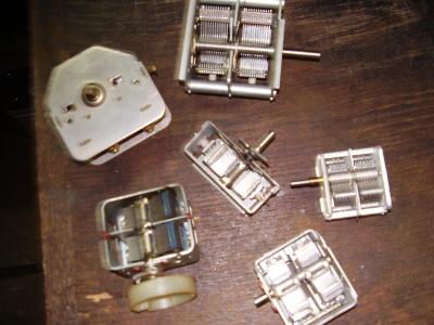 Starožitné nepoužité ladící kondenzátory
