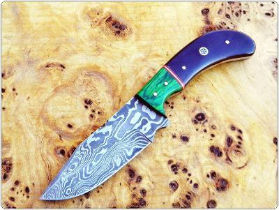 197/ Damaškový lovecky nůž. Rucni vyroba