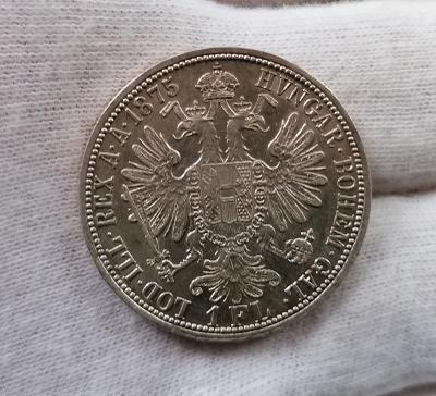 1 zlatník 1875, mincovna Vídeň, FJI, krásný stav, vzácnější