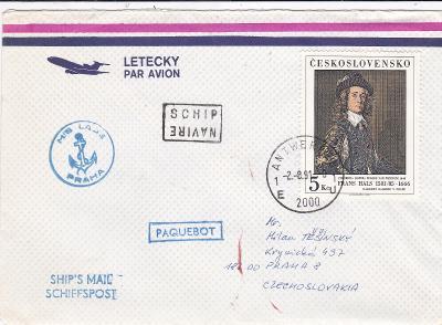 Československá námořní plavba, lodní pošta M/S Labe, Belgie, Antverpy