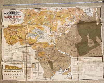 Stará mapa cukrovarů a rafinérií Ruského impéria 1886-1911