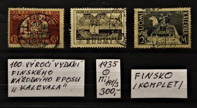 FINSKO/100. výročí.../1935/Mi:191-3/raz./popis viz. foto).