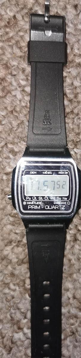 Prim Quartz digitálky. digitální hodinky