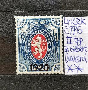 Známka ČSR 1, Lvíček 1920, Pošta na Rusi,typ II, Zk. Gilbert, luxusní!