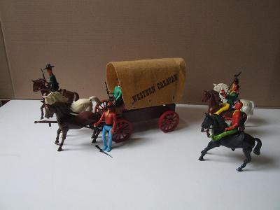 koňský povoz  indiáni a kovbojové western caravan