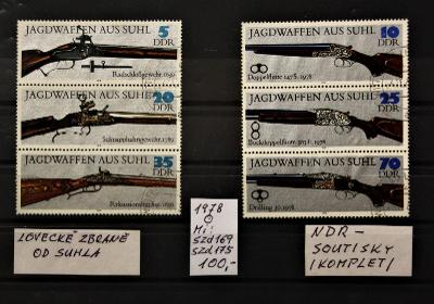 DDR/Lovecké zbraně-soutisky/1978/Mi:Szd169+Szd175/raz./popis viz. foto