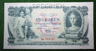 ČESKOSLOVENSKO 100 KORUN 1931 TOP STAV