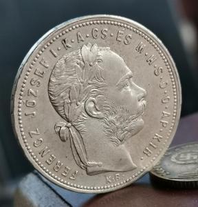 Zlatník (forint) 1881 KB. Vzácnější