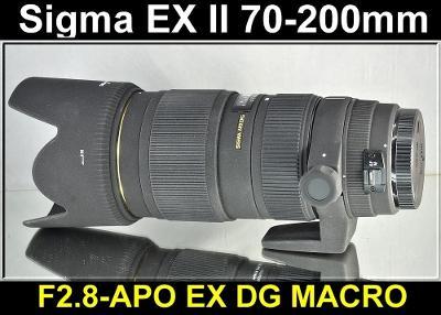 💥 pro Canon - Sigma APO DG 70-200mm 1:2.8 EX MACRO HSM II **FF**👍TOP