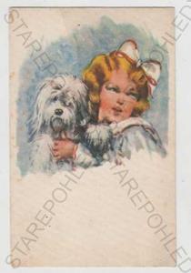 Děti - výtvarno, dítě, pes, kolorovaná, styl Salač