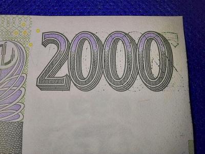 CHYBOTISK BANKOVKA 2000 KČ ROZMAZANÝ TISK