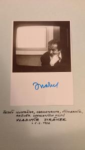 Podpis, autogram Vladimír Jiránek, karikaturista