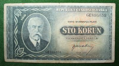 ČESKOSLOVENSKO 100 KORUN BEZ DATA