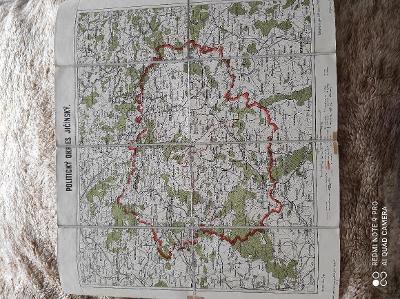 velmi stará mapa Jičín 1909