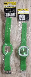 Silikonové hodinky zelené