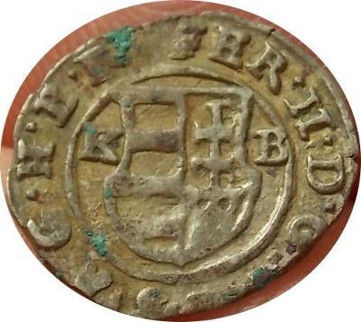Ferdinand II. 1536 K.B. Denár Kremnica