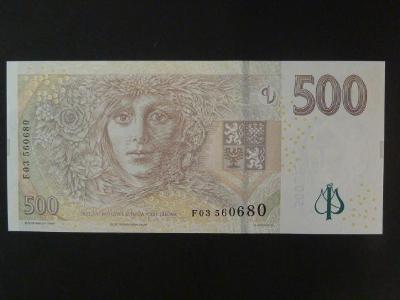 "500 Kč 2009 série F - stav ""N"""