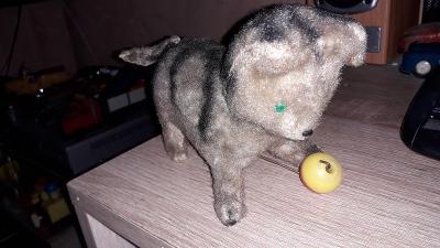 Stará kočička s balonkem na klíček - Rusko, Čína, Japonec -plně fukční