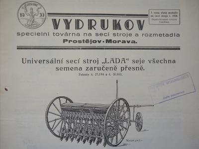 Vydrukov - Prostějov - továrna na secí stroje - 1930