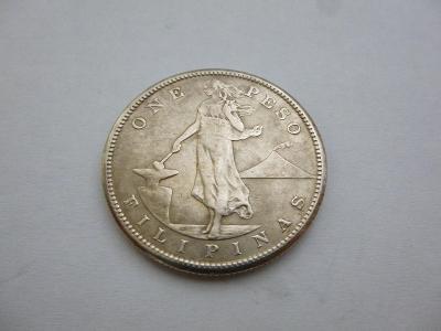 1 Peso 1907 S, Filipíny(pod USA), stříbro, Ag