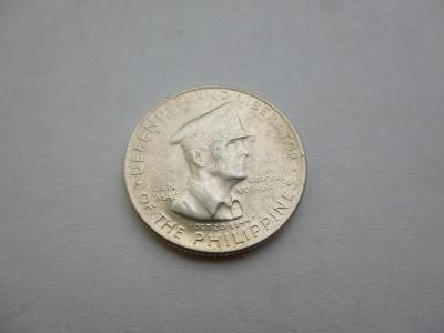 50 Centavos 1947 S, Filipíny, stříbro, Ag