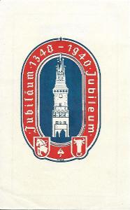 Pamětní list Pardubice 1940