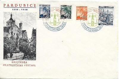 Pamětní obálka Pardubice 1940