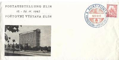 Pamětní obálka Zlín 1942