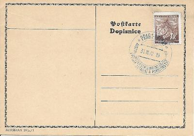 Lístek pamětní razítko Praha výstava pohostinství