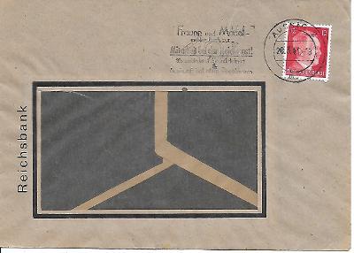 Firemní obálka Ústí nad Labem známka Deutsches reich zajímavé razítko
