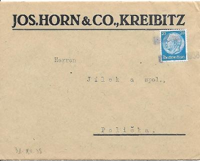 Firemní obálka Chřibská známka Deutsches reich