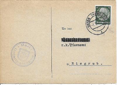 Úřední lístek Poštorná známka Deutsches reich zajímavé razítko