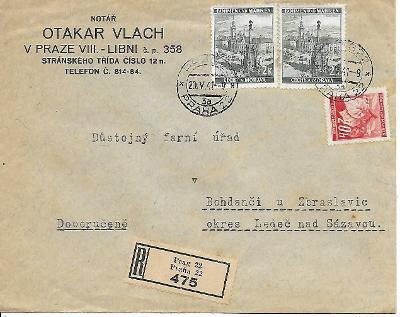 Firemní doporučená obálka Praha Libeň