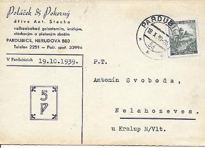 Firemní lístek Pardubice