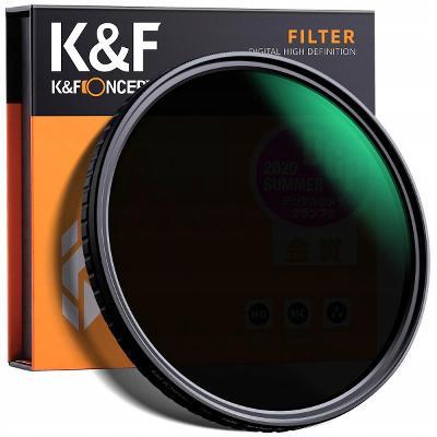 FILTR 77 mm KF X FADER ŠEDÝ NASTAVITELNÝ ND8-ND128 / KF01.1329