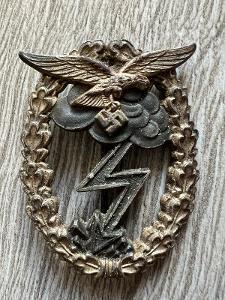 Německo, vyznamenání za pozemní boje Luftwaffe - válečný ORIGINAL !!!