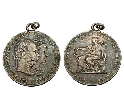 Stříbrný 2 zlatník 1879 - pamětní na stříbrnou svatbu