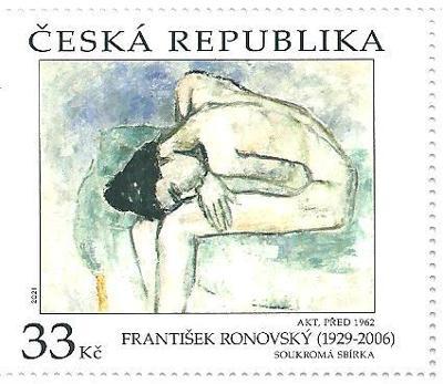 Umění  F. Ronovský 2021, jednotlivá známka. k.č. 1138.