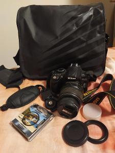 Digitální zrcadlovka Nikon D3100 - s příslušenstvím