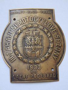 HARLEY CLUB PRAHA-3.ROČNÍK ZAHÁJENÍ SEZONY 1933