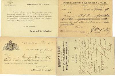 RAKOUSKO -  firemní korespondenční lístky, zajímavé