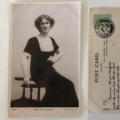 Pohlednice Fotopohled Nina Sevening (1908) - Čti Popis Aukce